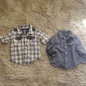 2 Baby Gap collared button downs.